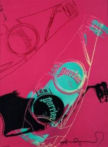 Andy Warhol, Perrier,  1983, offset, cm 45 x 61