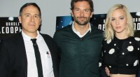 David O. Russell,Bradley Cooper and Jennifer Lawrence