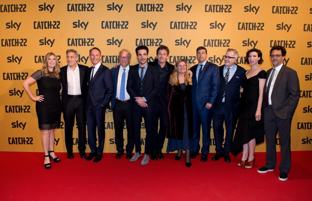 Nicole Clemens (President of Paramount Television), George Clooney, Andrea Zappia (CEO Sky Italia), Dan Cohen (Paramount Pictures, President of Worlwide Home Entertainment & Tv Distribution), Christopher